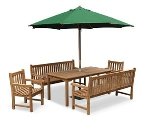 Terrific Details About Cambridge Garden Bench Set 1 8M Teak Bench Table And Arm Chairs Patio Set Cjindustries Chair Design For Home Cjindustriesco