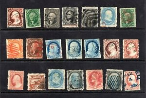High-Value-Large-Lot-of-used-19th-Century-U-S-Stamps-CV-8950-00