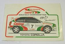 VECCHIO ADESIVO / Old Sticker RALLY TOYOTA COROLLA AURIOL GIRAUDET (cm 13 x 9)