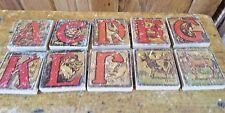Wooden Alphabet Blocks Antique Vintage