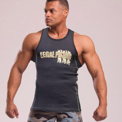 Legal Power TANK TOP MIT 9/% ELASTHAN schwarz oder weiß Shirt kurzarm