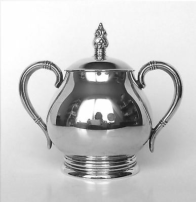 International Silver Co Royal Danish Sterling Silver Covered Sugar Bowl
