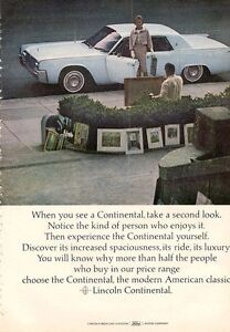 1964 lincoln continental sedan suicide doors print ad ebay. Black Bedroom Furniture Sets. Home Design Ideas