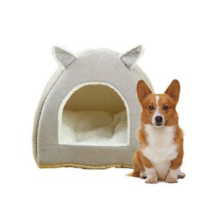 Pet-Dog-Cat-House-Kennel-Puppy-Cave-Sleeping-Bed-Cushion-Basket-Warm-Nest-Pad