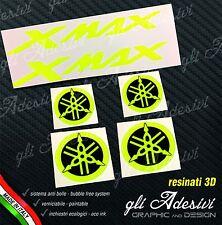 Set 6 Adesivi Resinati Sticker 3D XMAX X MAX Fluo Fluorescente