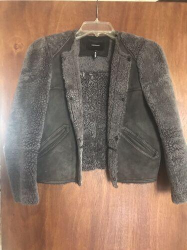 Isabel Marant Lamb Wool Fur & Suede Jacket Size 38