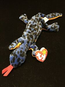 8de182139af Ty Beanie Baby LIZZY The Lizard Rare Retired with errors PVC Pellets ...
