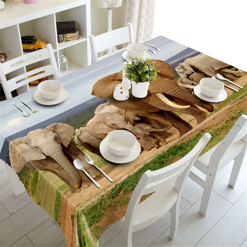 Elephant Ears 3D Tablecloth Tablecloth Tablecloth Table cover Cloth Rectangle Wedding Party Banquet 116791