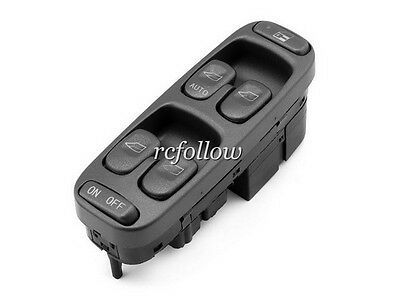 Black Front Left Power Window Master Control Switch For Volvo V70 S70 1998-2000