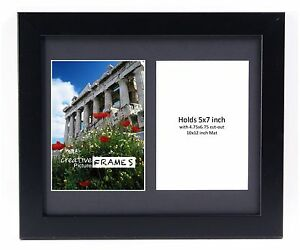 Creativepf 2 Opening Multi 5x7 Black Picture Frame W 10x12 Black