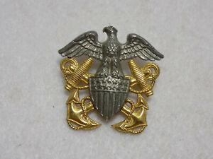 Vintage-WWII-Era-USN-Navy-Officer-Garrison-Cap-Badge-GemsCo-Sterling