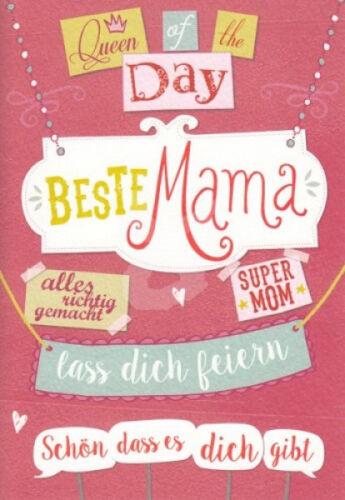 """""""Beste Mama"""" Doppelkarte Muttertagskarte Geburtstagskarte Muttertag Spruchkarte"""