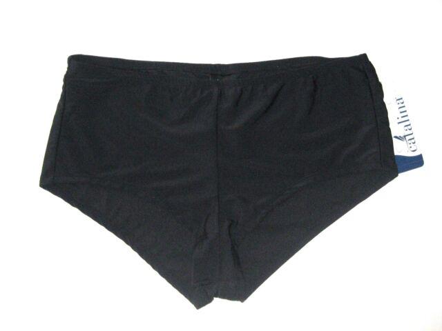 f24884d71f Catalina Plus Swimwear Bottom Size 3x Black Solid High Waist Boyshort