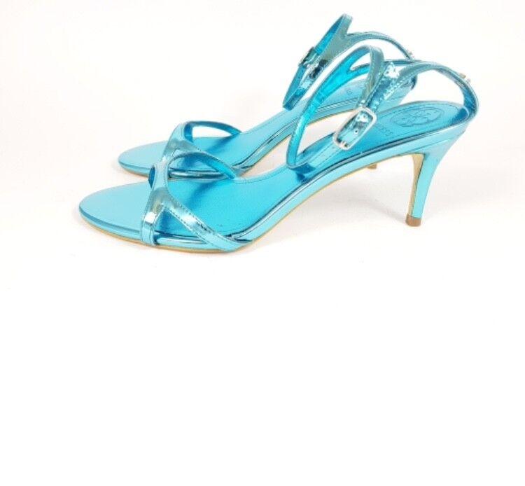 GUESS cinturino P/E18 sandali tacco medio cinturino GUESS caviglia effetto metallizzato NYALA c95a1c