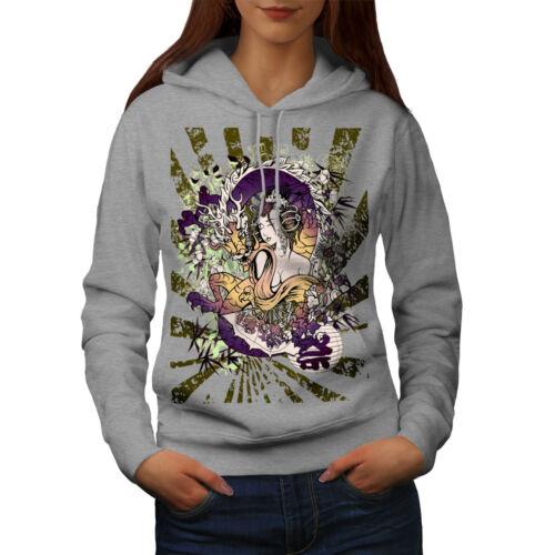 Game Casual Hooded Sweatshirt Wellcoda Dragon Japan Asia Womens Hoodie