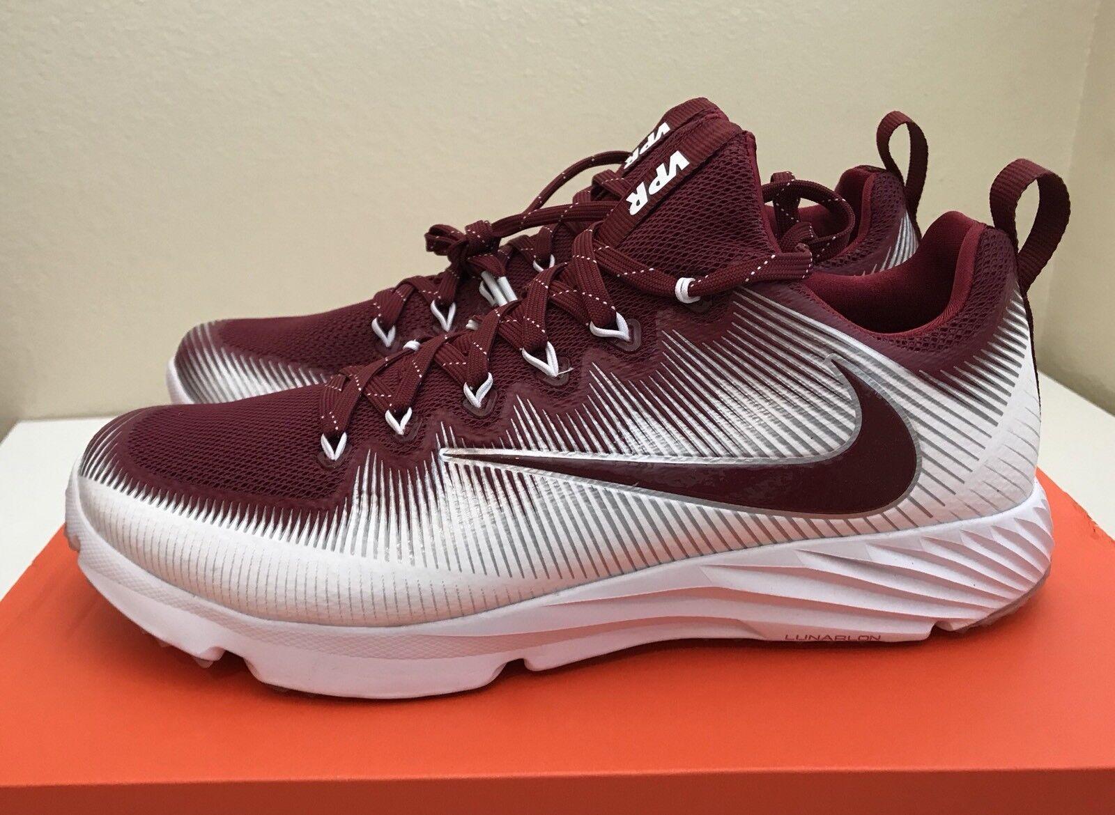 Nike Vapor Speed Turf Team Red White Maroon Football LAX NEW Training Mens Sz 9 NEW LAX 3d4c88