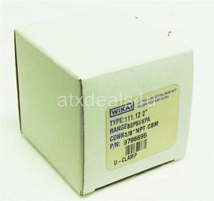 "New in Box WIKA Pressure Gauge 2"" Face 0-60PSIG 1/8"" NPT CBM 111.12 2"""