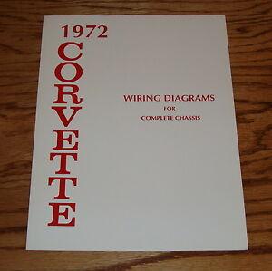 1972 Chevrolet Corvette Wiring Diagram Manual for Complete ...