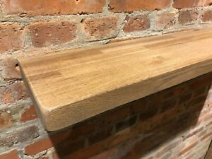 new style b71e4 d2d23 Details about Oak Shelves Solid Oak Shelf Floating Rustic Chunky Country  Kitchen Farmhouse 8