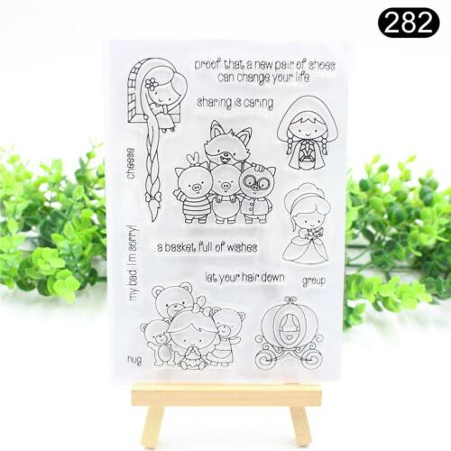 Transparent Silicone Clear Stamp Cling Seal Scrapbook Embossing Album Decor Gift