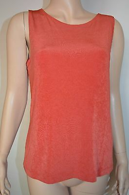 Chicos Travelers 1 tank top shell burnt orange Acetate Blend casual blouse