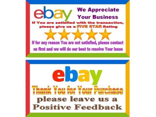 100 Thank You Cards for  Customer Appreciacion Cards