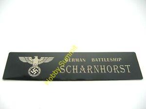Battleship-SCHARNHORST-Metal-NAMEPLATE-WWII-German-Navy-1-350-1-700-DIsplay