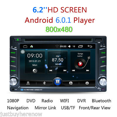 6.2'' Android 6.0 Double DIN GPS Bluetooth WIFI Autoradio DVD Player AM/FM/RDS