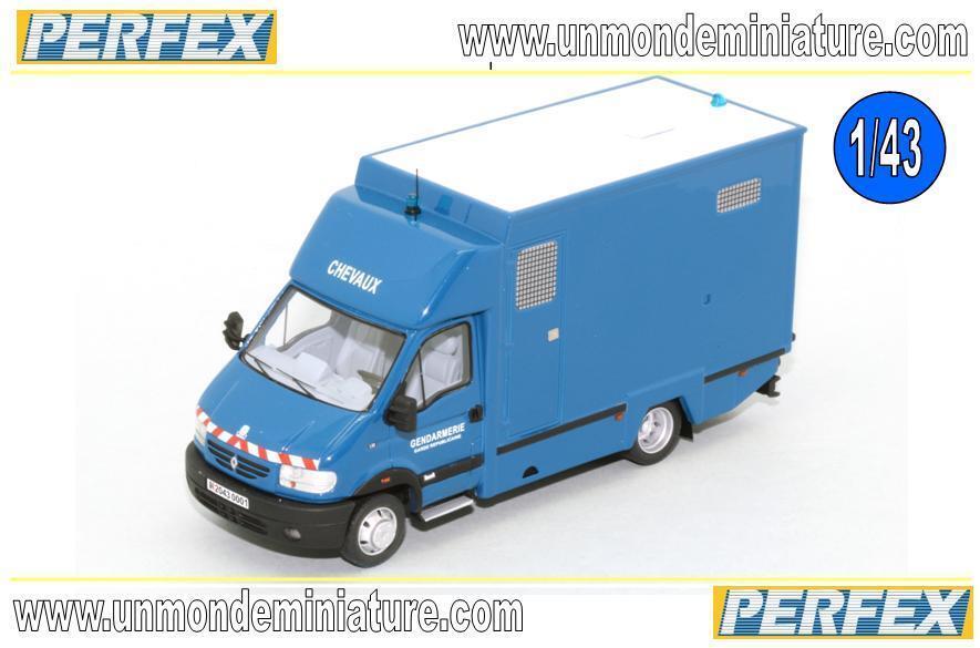 Renault Mascott Garde Republicaine Gengarmerie PERFEX - PE 702 - Echelle 1 43