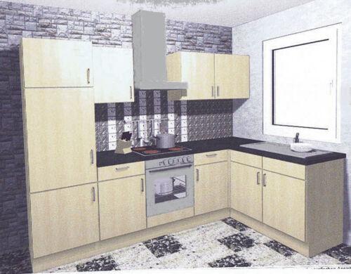 Einbauküche EMILIE II Küchenzeile L-Form 285 x 165cm Küche mit E-Geräte