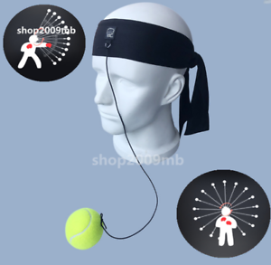 Fight Ball Reflex Boxing React Training Boxer Speed Punch Head Cap String  F