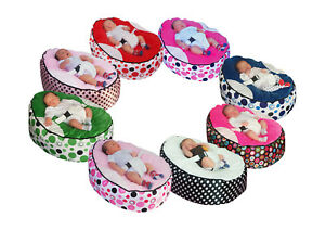 Pre-filled-Baby-Bean-Bag-with-2-Removable-covers-amp-Safety-Harness-UK-Seller