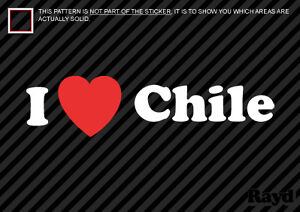 I Love Chile Sticker Decal Die-Cut Vinyl 2