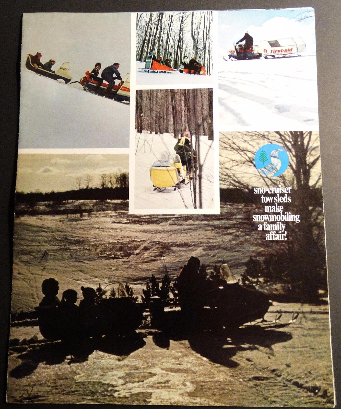 VINTAGE RARE 1970 SNO-CRUISER SNOWMOBILE TOW SLEDS SALES BROCHURE 8 PAGES  (291)
