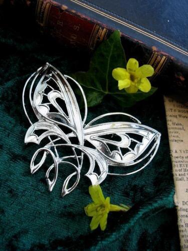 Arwen Evenstar Butterfly Brooch Pin Lord Rings LOTR Silver Celtic Fae  Elven