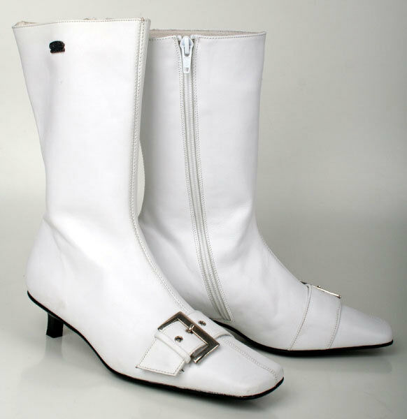Buffalo Stiefel 6201-120 Leather White Gr. 36