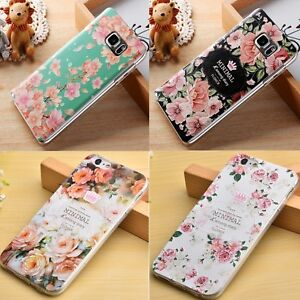 Design-Motiv-Blumen-Flower-Cover-Back-Case-Schutz-Schale-Etui-ver-Handy