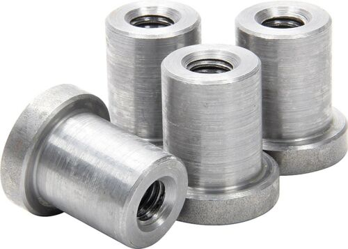 """Weld on Nuts 3//8/""""-16 Thread LONG Threaded Nut Steel Chassis Mount Tab Pack of 4"""