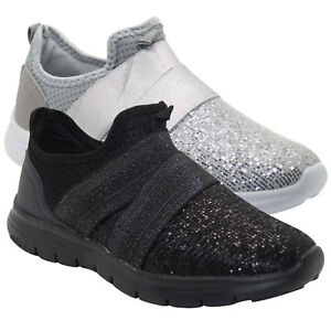 New-Ladies-Womens-Lightweight-Glitter-Comfy-Running-Walking-Trainers-Shoes