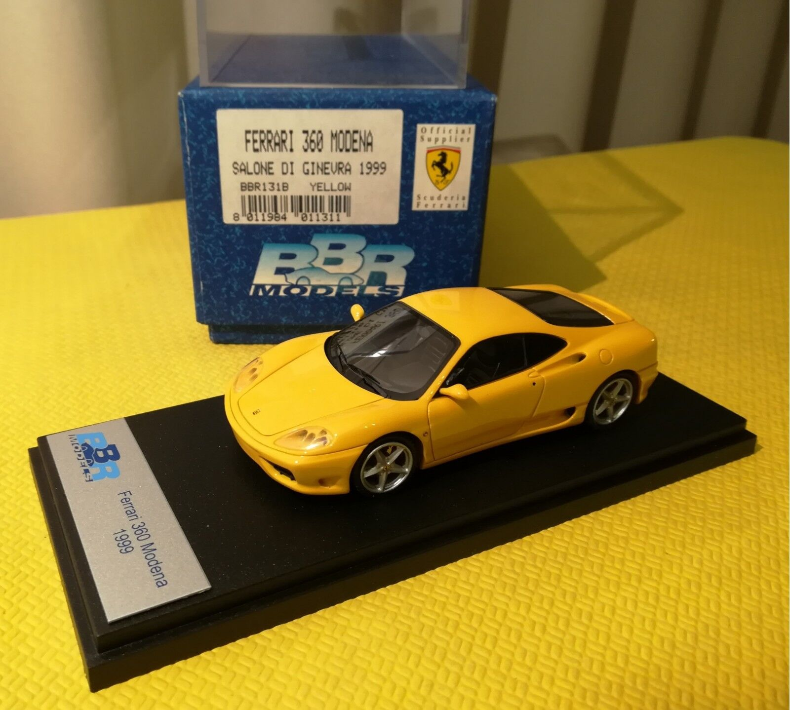 1 43BBR Ferrari 360 Modena Saloon de Geneve Geneve Geneve 1999 jaune  MIB Rare No AMR ABC b4d4a4