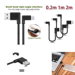 Rechtwinklig-USB-Typ-C-Schneller-Ladegeraet-Lade-DatenKabel-fuer-Samsung-Galaxy-S8