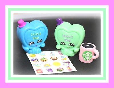 NEW Shopkins Season 1 Rare green Candy Kisses 1-057 figure heart