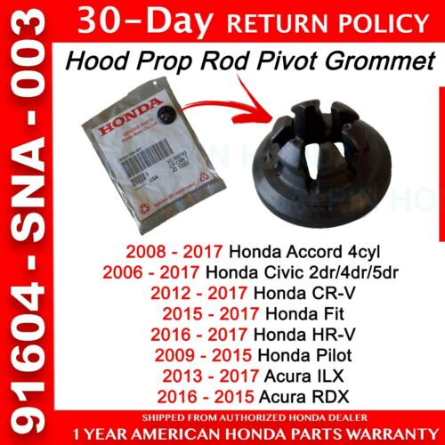 Genuine OEM Honda Accord Civic CR-V Pilot Fit HR-V Hood Prop Rod Pivot Grommet