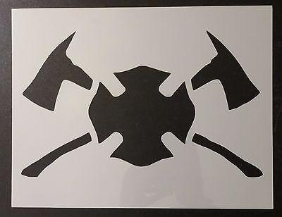 """Departamento de bomberos ejes BOMBERO Hacha Man 11/""""x8.5/"""" Custom Stencil rápido envío gratuito"""