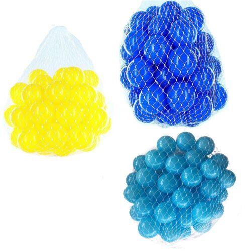 150-9000 Bällebad Bälle 55mm mix türkis blau gelb gemischt Farben Baby Kind Ball