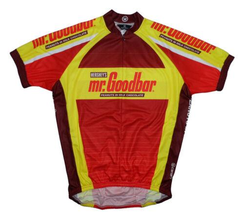 2005 Canary Hershey/'s mr.Goodbar Chocolate Cycling Jersey Men Medium Short Sleev