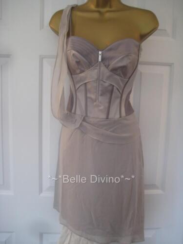 Millen Grey Chiffon One 8 Uk Karen Dress Bnwt 6 £175 Top Dl107 Corset Silk Arm C1KwB50qK