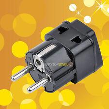 1 to 2 Splitter Germany France 5mm Plug to Universal UK/US/EU/AU 2/ 3 Pin Socket