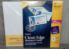 New Avery White Clean Edge Business Cards And Sk Business Supplies 450 Cards
