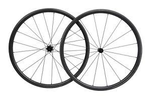 700C-Carbon-Road-Bike-Wheelset-Black-Matte-23mm-30mm-deep-clincher-Black-Matt
